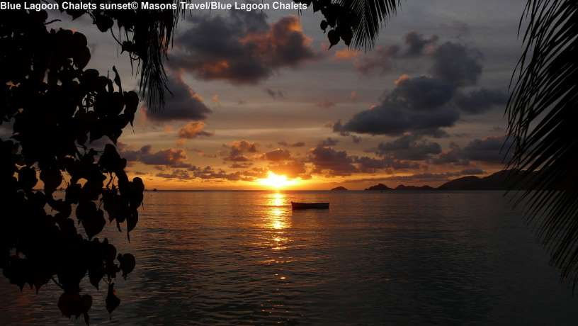 Blue Lagoon Chalets sunset