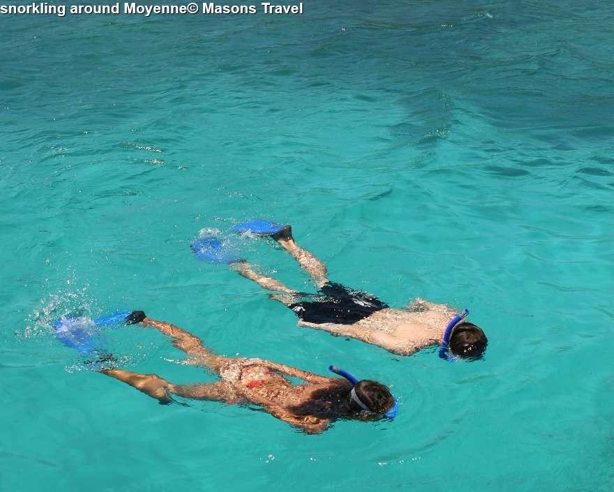 snorkling around Moyenne
