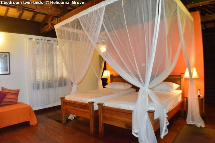 1 bed room twin beds of Heliconia Grove (Praslin)