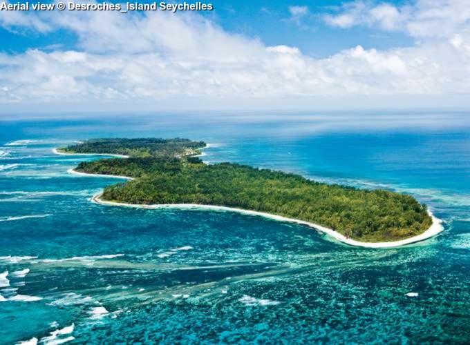 Aerial view Desroches_Island
