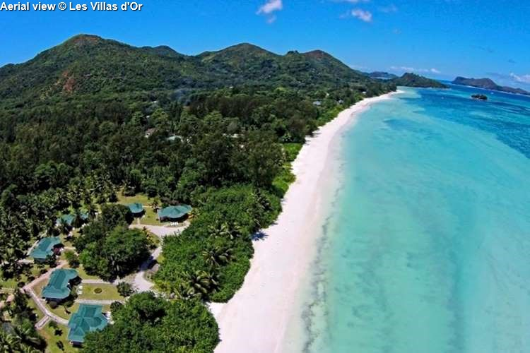 Aerial view Les Villas d'Or (Praslin)
