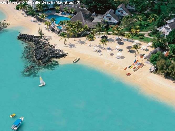 Aerial view © Merville Beach (Mauritius)