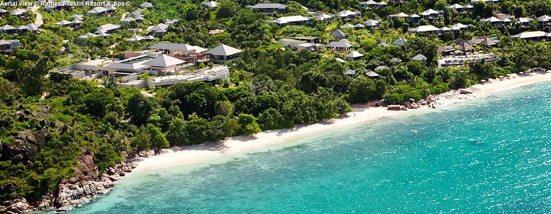 Aerial view Raffles Praslin Resort & Spa