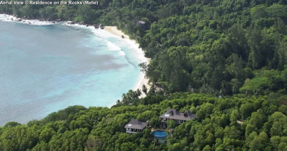 Aerial view © Residence on the Rocks (Mahe)