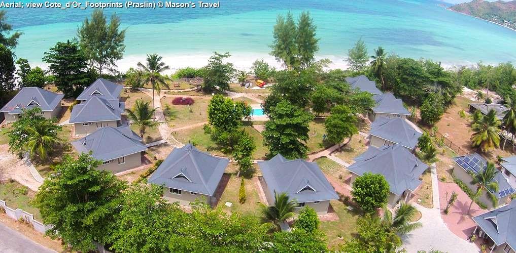 Aerial view Cote_d'Or_Footprints (Praslin)