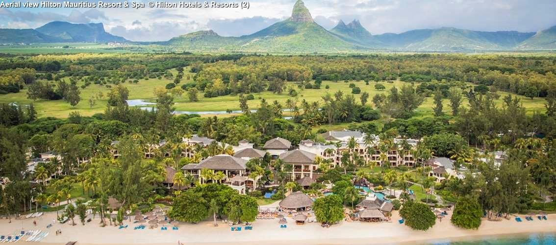Aerial view Hilton Mauritius Resort & Spa