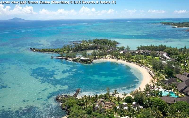 Aerial view LUX Grand Gaube (Mauritius)