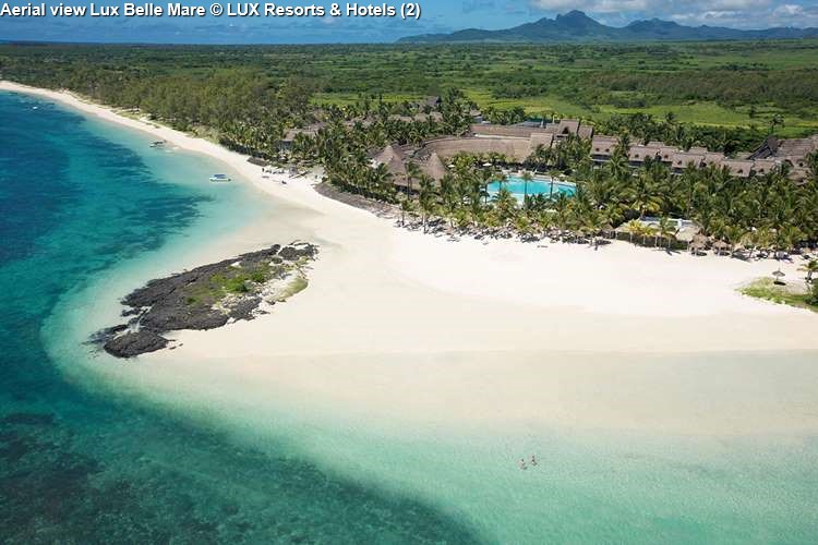 Aerial view Lux Belle Mare (Mauritius)
