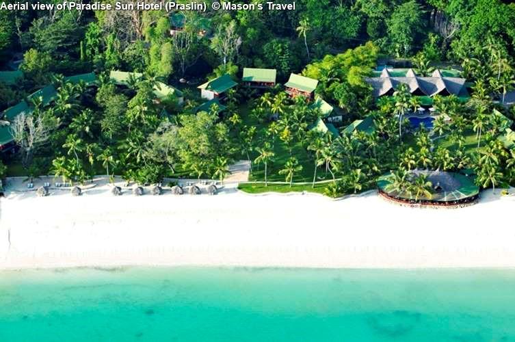Aerial view of Paradise Sun Hotel (Praslin)