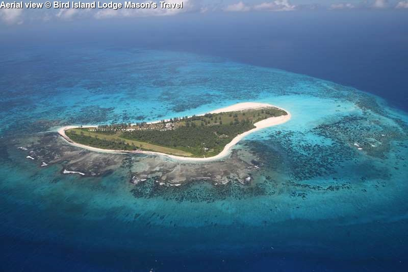 Aerial view © Bird Island Lodge Mason's Travel