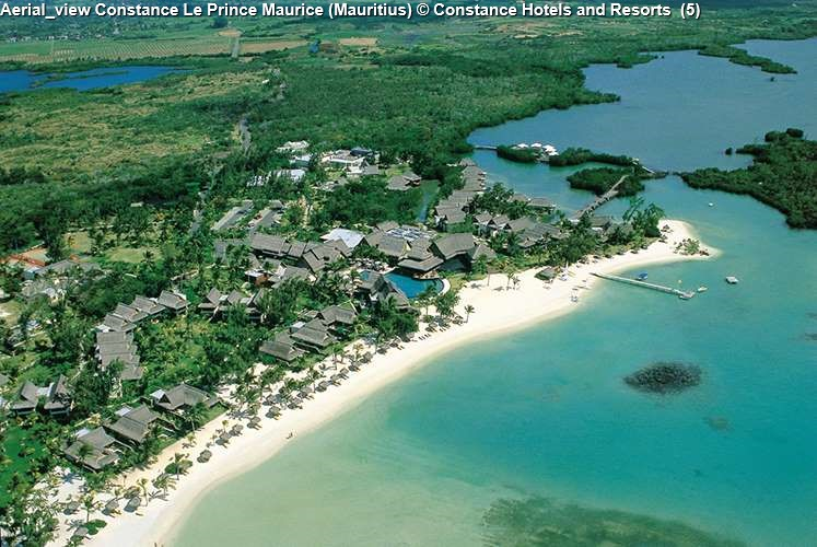 Aerial view Constance Le Prince Maurice (Mauritius)