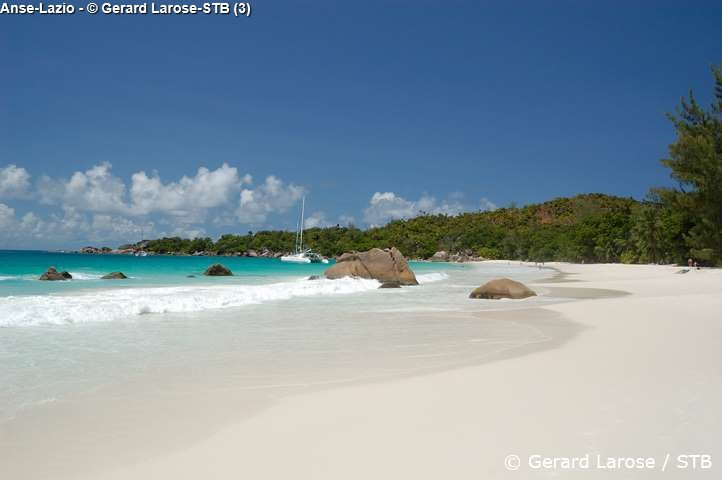 Anse Lazio on Praslin one of the most beautiful beaches of the world
