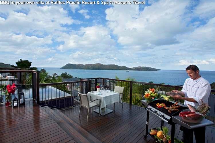 BBQ in your own villa at Raffles Praslin Resort & Spa (Praslin)