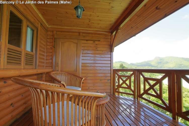 Balcony © Le Jardin des Palmes (Mahe)