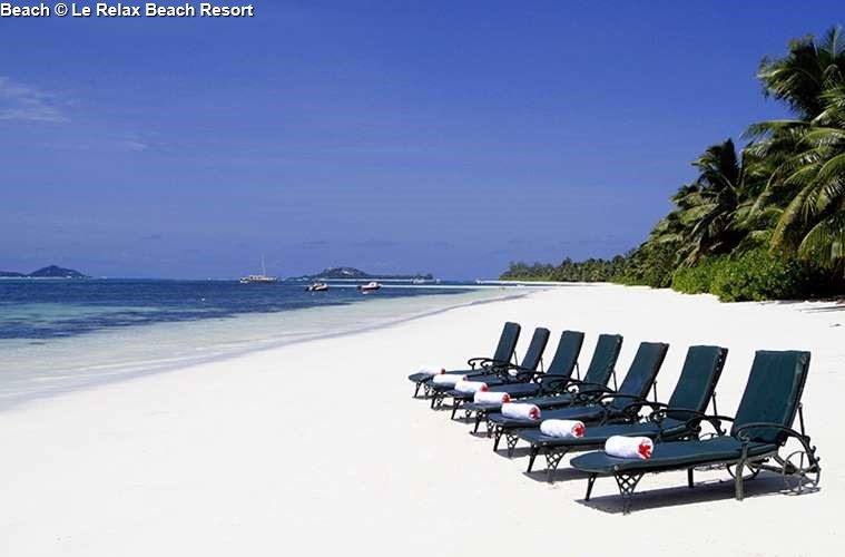 Beach of Le Relax Beach Resort (Praslin)