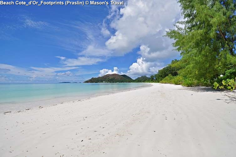 Beach at a footstep from Cote_d'Or_Footprints (Praslin)
