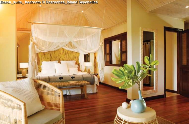 Beach_suite_ bedroom of Desroches_Island Seychelles
