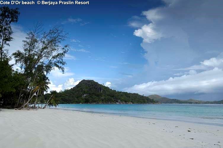 Cote D'Or beach Berjaya Praslin Resort