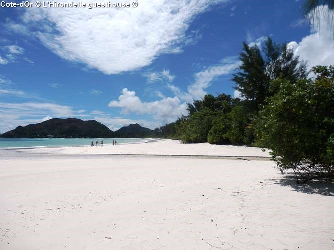 Cote d'Or beach close to l'Hirondelle guesthouse (Praslin)