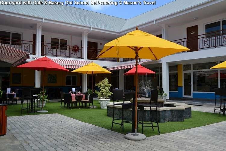 Courtyard with Café & Bakery Old School Self-catering