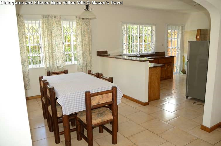 Dining area and kitchen Beau Vallon Villa