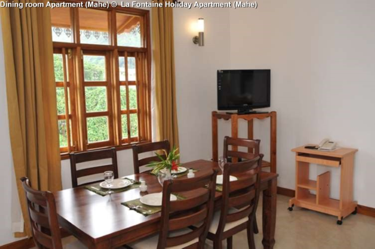 Dining room Apartment (Mahe) © La Fontaine Holiday Apartment