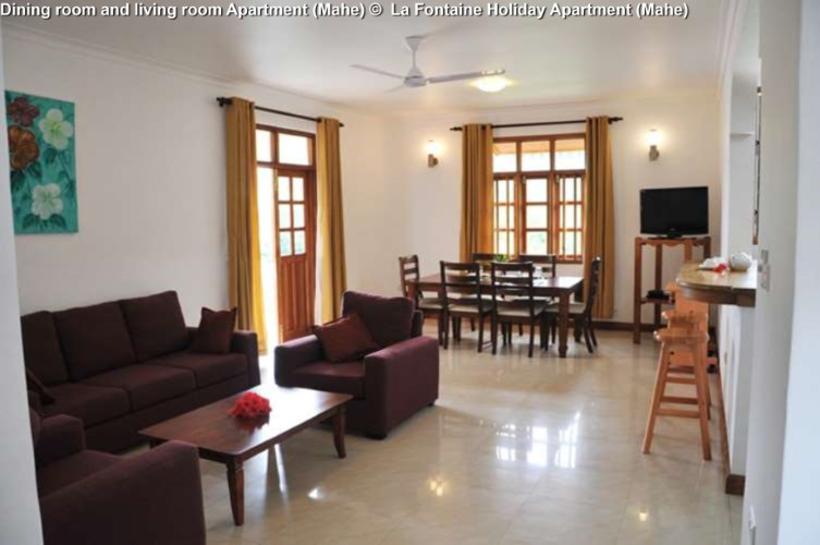 Dining room and living room Apartment (Mahe) © La Fontaine Holiday Apartment (Mahe)