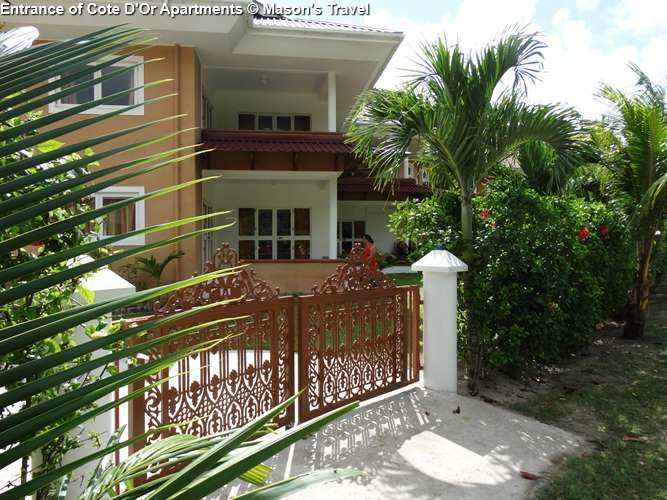 Entrance of Cote D'Or Apartments ( Praslin)