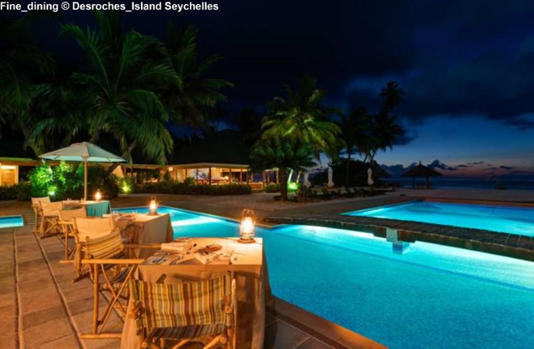 Fine_dining at Desroches_Island Seychelles