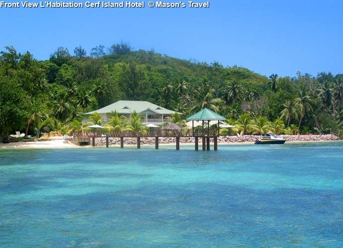 Front View L'Habitation Cerf Island Hotel