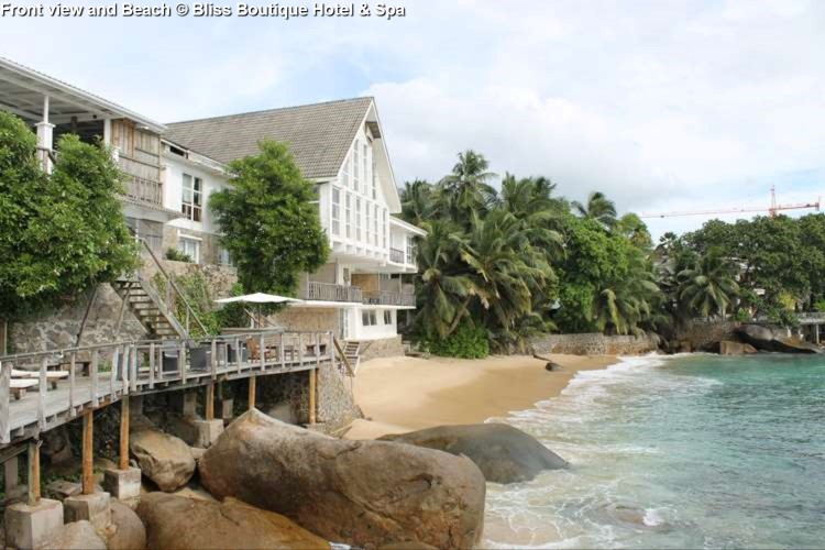 Front view and Beach Bliss Boutique Hotel & Spa