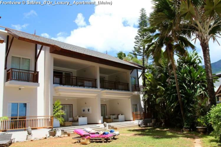 Frontview © Sables_d'Or_Luxury_ Apartment_(Mahe)