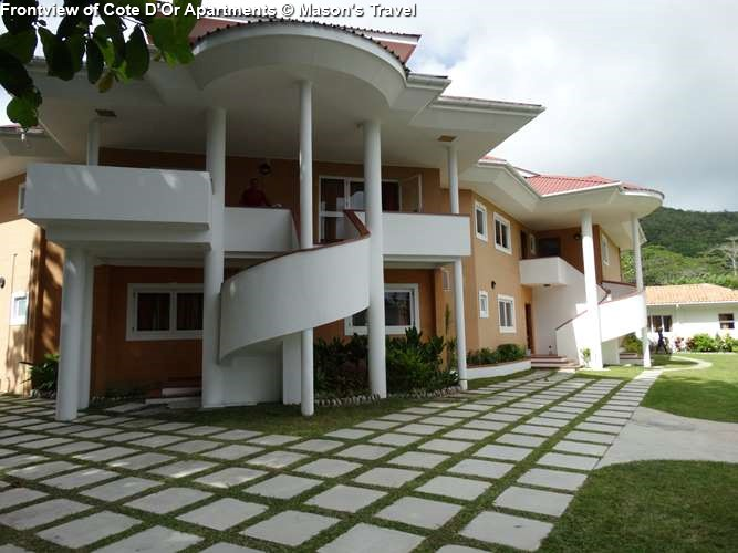 Front view Garden of Cote D'Or Apartments (Praslin)