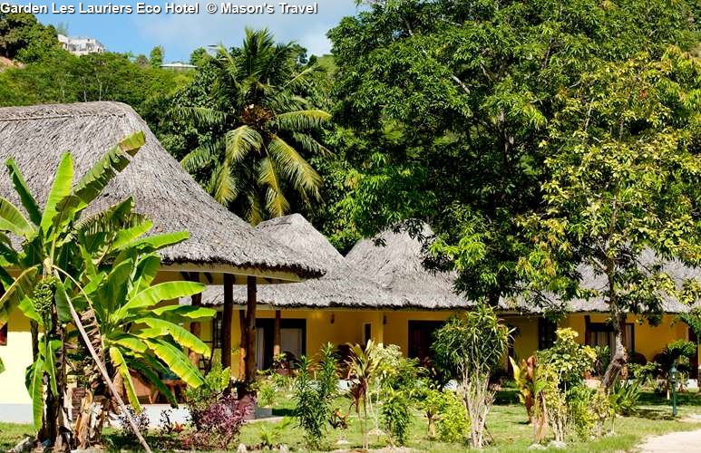 Garden of Les Lauriers Eco Hotel (Praslin)