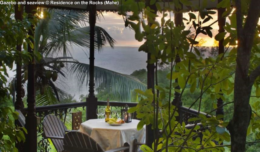 View from the Gazebo © Residence on the Rocks (Mahe)