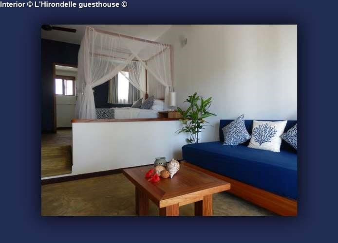 Interior L'Hirondelle guesthouse (Praslin)