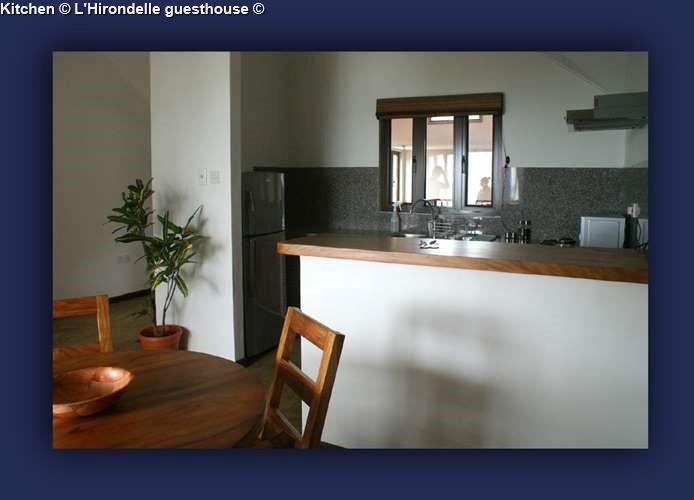 Kitchen L'Hirondelle guesthouse (Praslin)