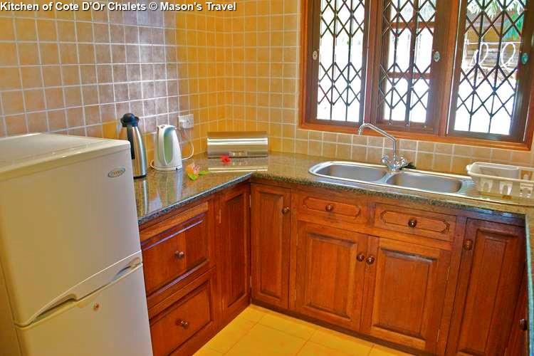 Kitchen of Cote D'Or Chalets (Praslin)