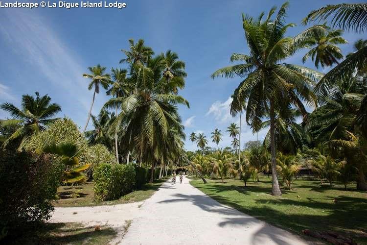 Landscape of La Digue Island Lodge