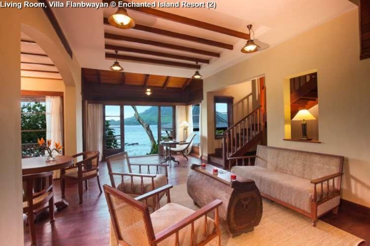 Living Room, Villa Flanbwayan Enchanted Island Resort