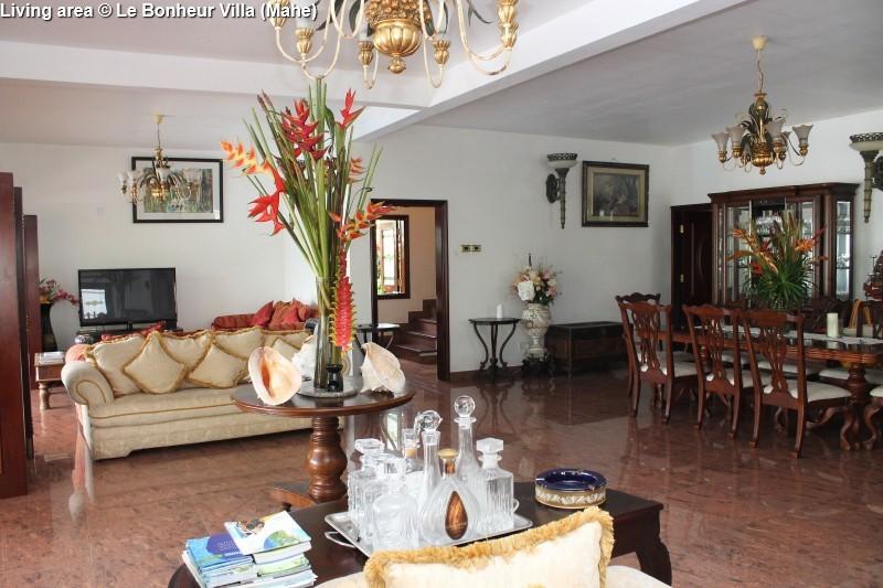 Living area © Le Bonheur Villa (Mahe)