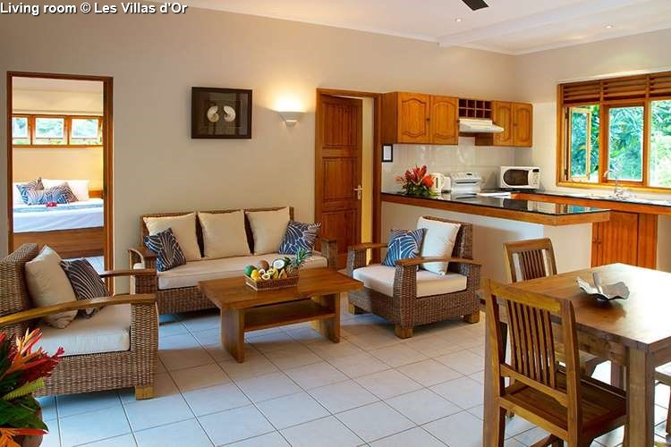 living room Les Villas d'Or (Praslin)