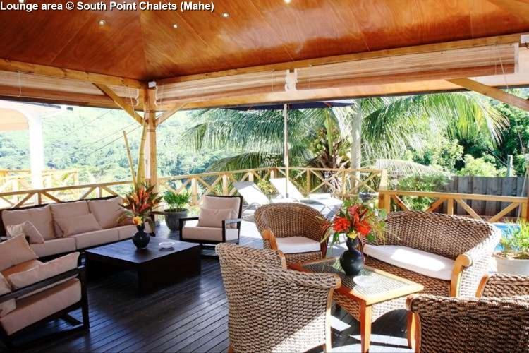 Lounge area © South Point Chalets (Mahe)