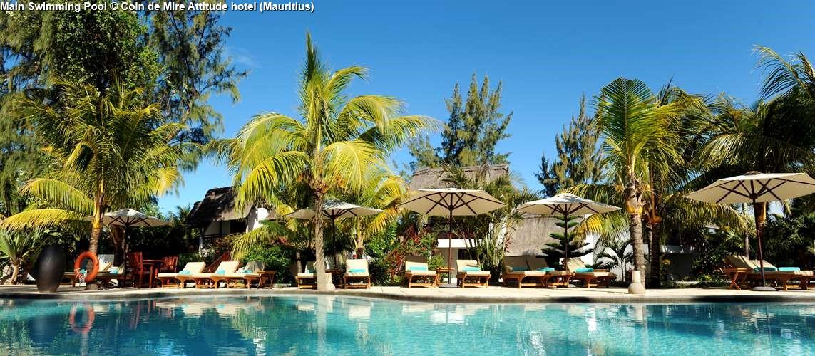 Main Swimming Pool Coin de Mire Attitude hotel (Mauritius)