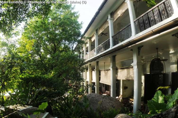 Main building © Residence on the Rocks (Mahe)