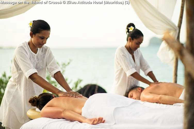 Massage on the Island of Crusoé Zilwa Attitude Hotel (Mauritius)