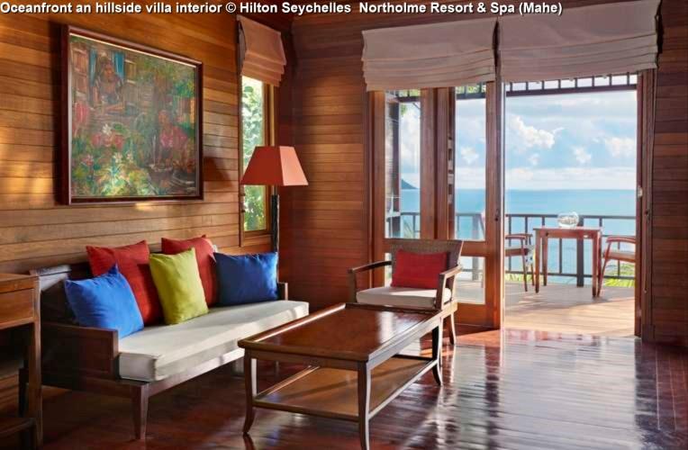 Oceanfront and hillside villa interior © Hilton Seychelles Northolme Resort & Spa (Mahe)