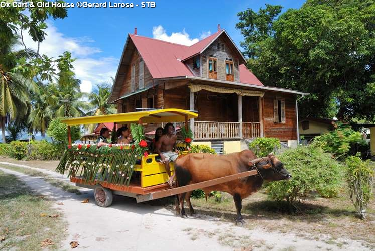 Ox Cart & Old House (La Digue)