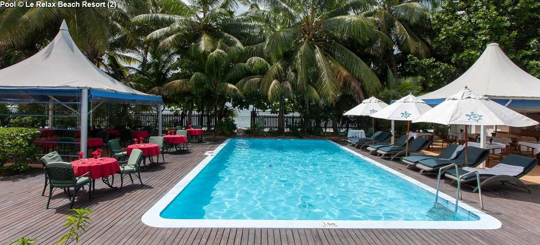 Swimming pool of Le Relax Beach Resort (Praslin)