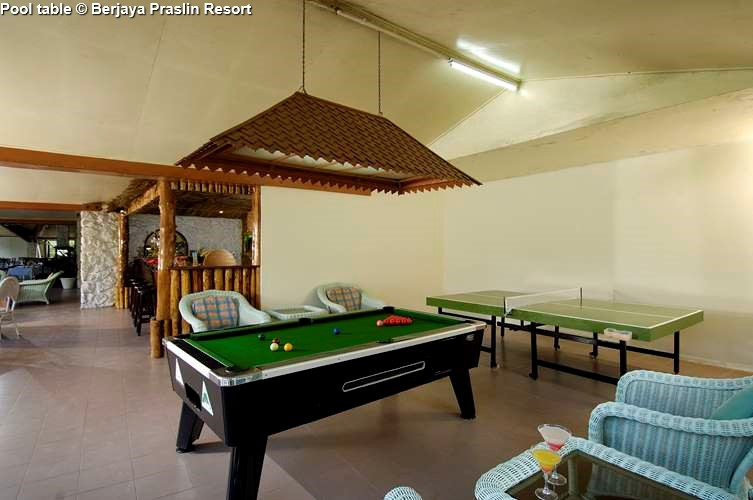 Pool table Berjaya Praslin Resort